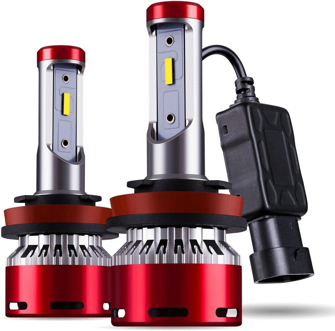 DODOFUN H8 H9 H11 Car LED Headlight Bulb Conversion Kit - High Beam Low Beam and Fog Light Replacement 6000K Xenon White Ultra High Performance Bright Non-polarity