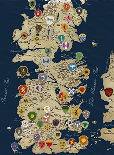 Amazon Com We Are Together Game Of Thrones Houses Map Westeros And Free Cities Poster Wall Scroll Home Deco On32 Inch X 24 Inch Posters Prints