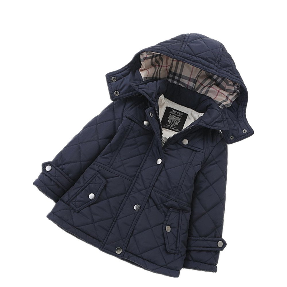 LJYH Girls' Quilted Puffer Jacket Winter Thick Hooded Outwear Coat by LJYH