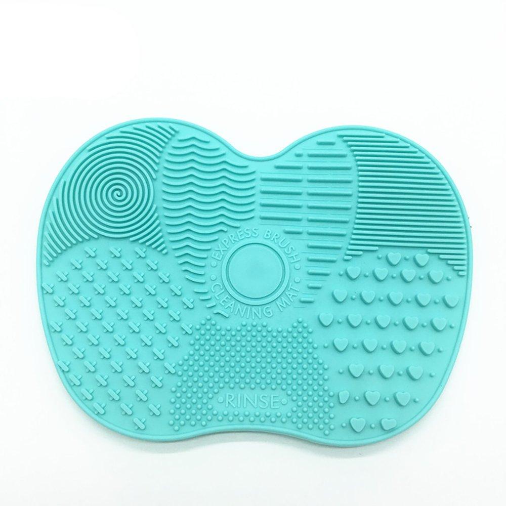 Cepillo de maquillaje Mat, silicona cosmética herramienta con ventosas que se lava de limpieza(Verde) Romote