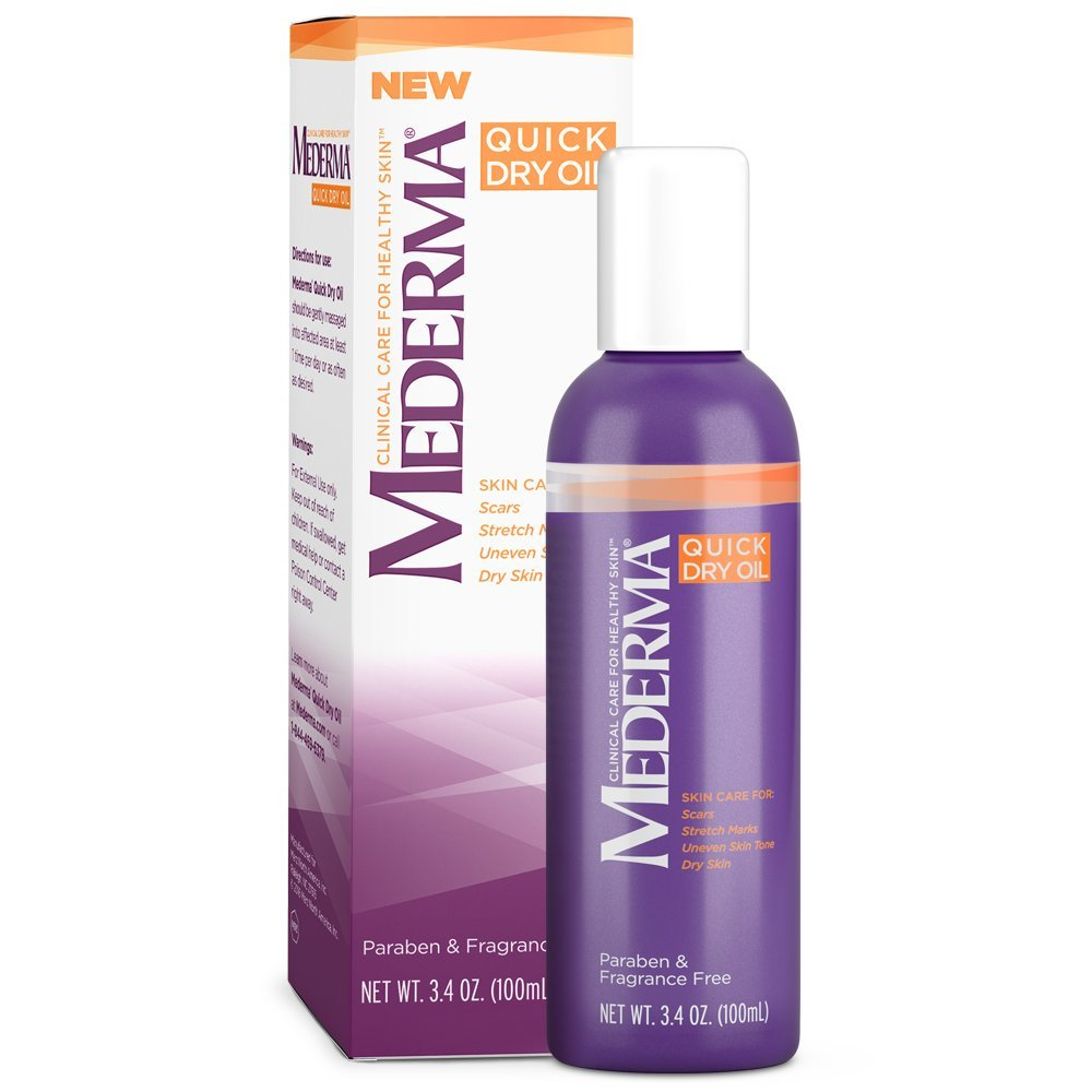 Mederma Quick Dry Oil - for scars, stretch marks, uneven skin tone and dry skin - #1 scar care brand - fragrance-free, paraben-free - 5.1 ounce by Mederma