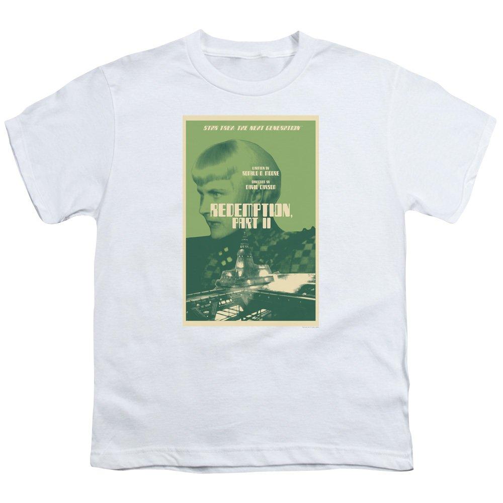 Star Trek TNG - Camiseta Unisex para niños y niñas - Blanco ...