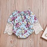 LOliSWan Baby Girl's Floral Print Ruffles Romper