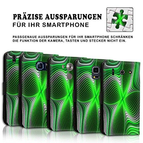 Wallet Book Style Flip Handy Tasche Case Schutz Hülle Schale Motiv Etui für Apple iPhone 6 / 6S - Design Flip MVD340
