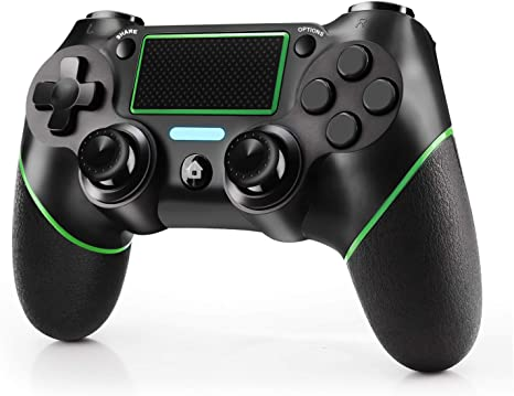 JAMSWALL Mando para PS4, Inalámbrico Controlador para Playstation 4 Wireless Controller Bluetooth Gamepad Joystick con Vibración Doble Jack de Audio de Seis Ejes: Amazon.es: Electrónica