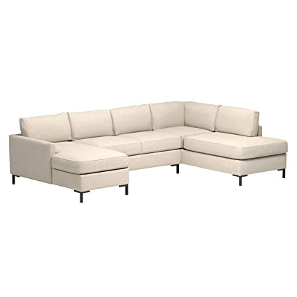 Rivet Edgewest Low Back Modern Right U-Sectional, 117
