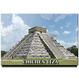 Chichen Itza Fridge Magnet Mexico Travel Souvenir