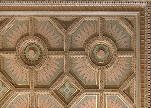16 x 24 Art Canvas Wrapped Frame Giclee Print of Ceiling detail at the Texarkana U.S. Post Office and Federal Building 4130 Highsmith 15a