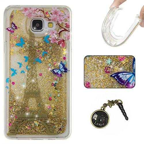 Funda para Samsung Galaxy A5(6) SM-A510F2016, 3D fluido líquido, arenas movedizas estrella brillante lujo brillo purpurina cristal multicolor de amor diseño satisfacción bolsa funda para Samsung Gal 12