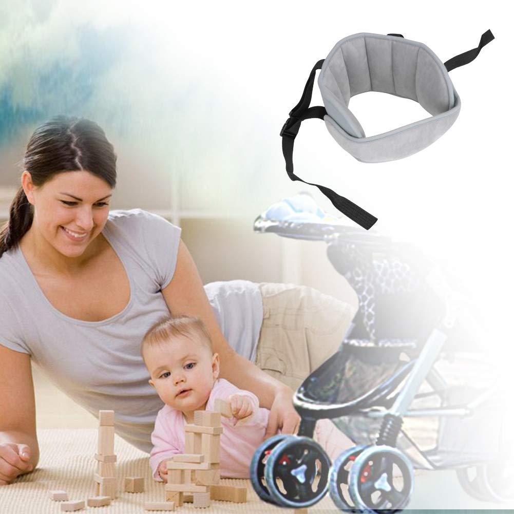 Linkax Kindersitz Kopfband,Autositz Kopfband,Kopfst/ütze Kinder Auto kinderkopfst/ütze f/ür Autositz Nackenst/ützen Verstellbarer Kopfst/ützgurt Grau