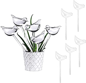 Brilhante 10 Pcs Bird Automatic Plant Waterer, Plastic Self-Watering Stakes Water Globe Automatic Irrigation Device for Indoor & Outdoor Plants, Houseplant Garden Flower