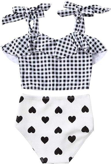 Kid Long Sleeves Tankini Swimsuit Baby Beachwear Girl Rashguard Bathing Suit Set
