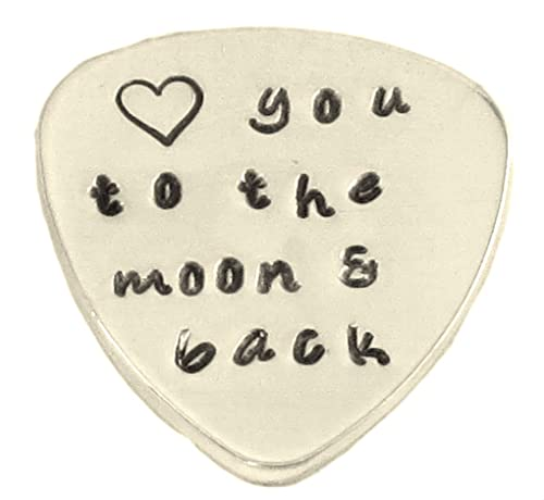 e004157177 Amazon.com: Custom Guitar Pick Love You to The Moon and Back Hand Stamped  Music Lovers Men Gift for Him Birthday: Jewelry