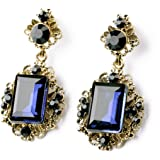 Shining Diva Fashion Non Precious Metal Blue Gem Stylish Fancy Party Wear Earrings for Girls and Women(rr7141er)