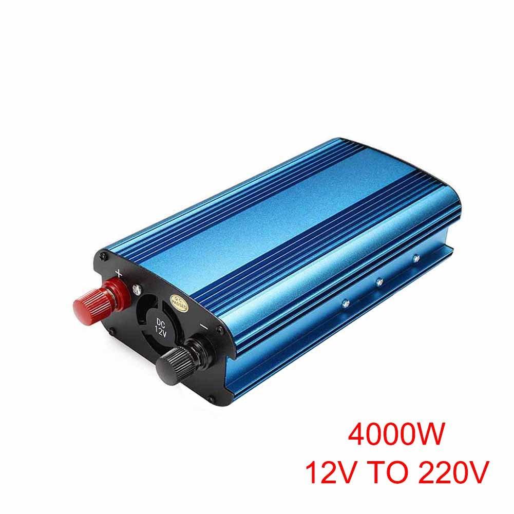 Ywillink 4000W Car Solar Power Inverter DC 12V to AC 220V Modified Sine Wave Converter