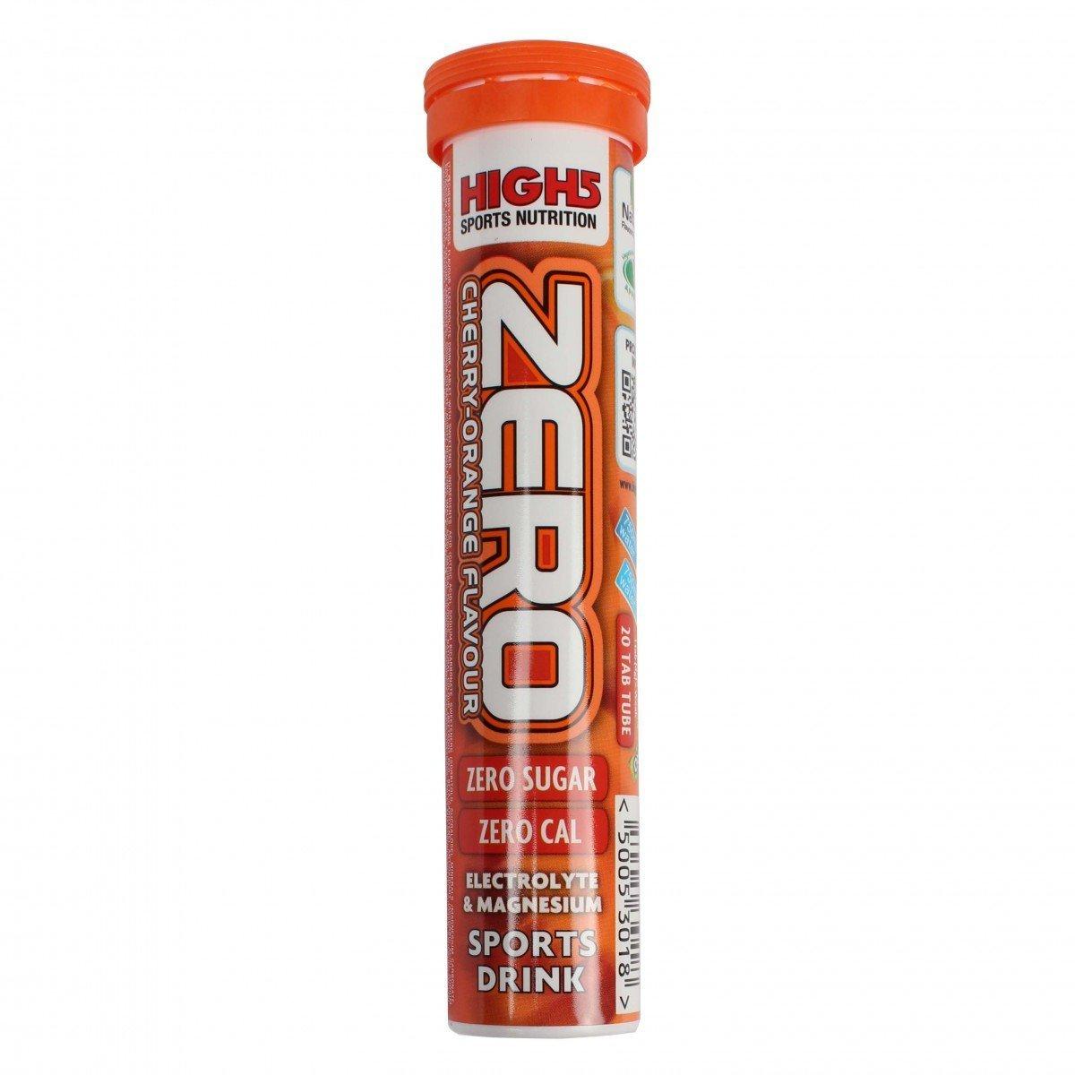 High5 ZERO 1 tubo x 20 tabl -Bebida Isotonica - Sabor - Cereza-Naranja: Amazon.es: Alimentación y bebidas