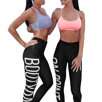 HARRYSTORE Pantalón Chandal de Letras mujer Fitness Gym Yoga ...