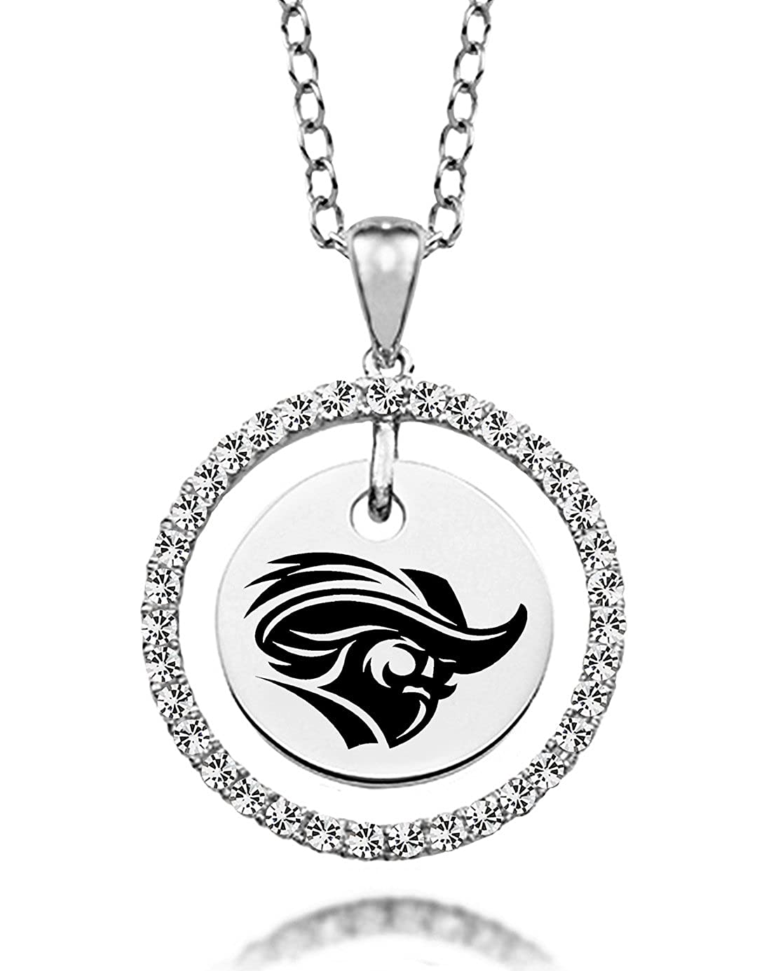 Christopher Newport Captains White Cz Circle Necklace