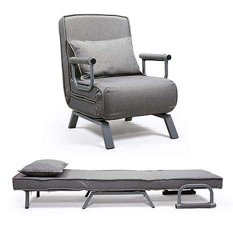 Amazon.com: JAXPETY Sofá cama plegable brazo silla cama cama ...