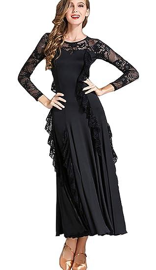 67caecbae CHAGME Lace Dress Latin Dress Tango Skirts Ballroom Skirts Waltz Dress:  Amazon.co.uk: Clothing