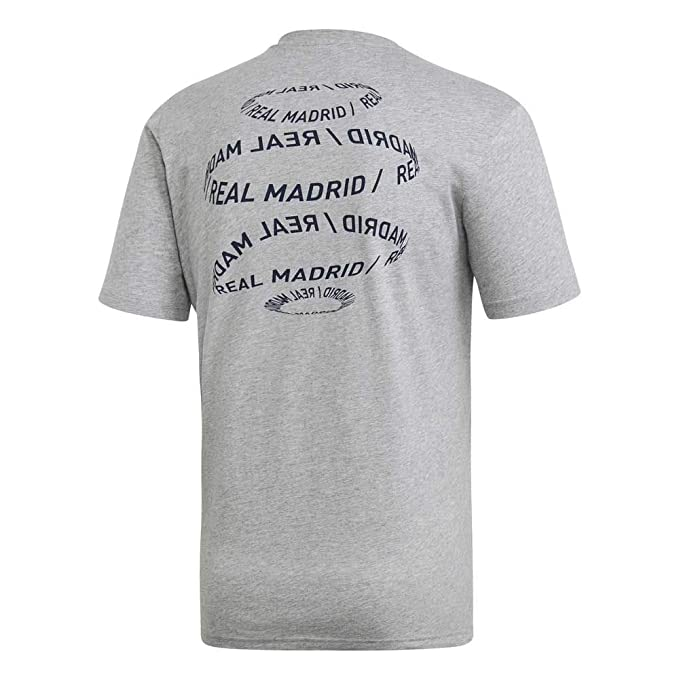 adidas Real Madrid Street Graphic Tee (Medium Grey Heather) (S ...
