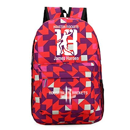 Mochila De Baloncesto De Moda Houston Rockets #13 Harden ...