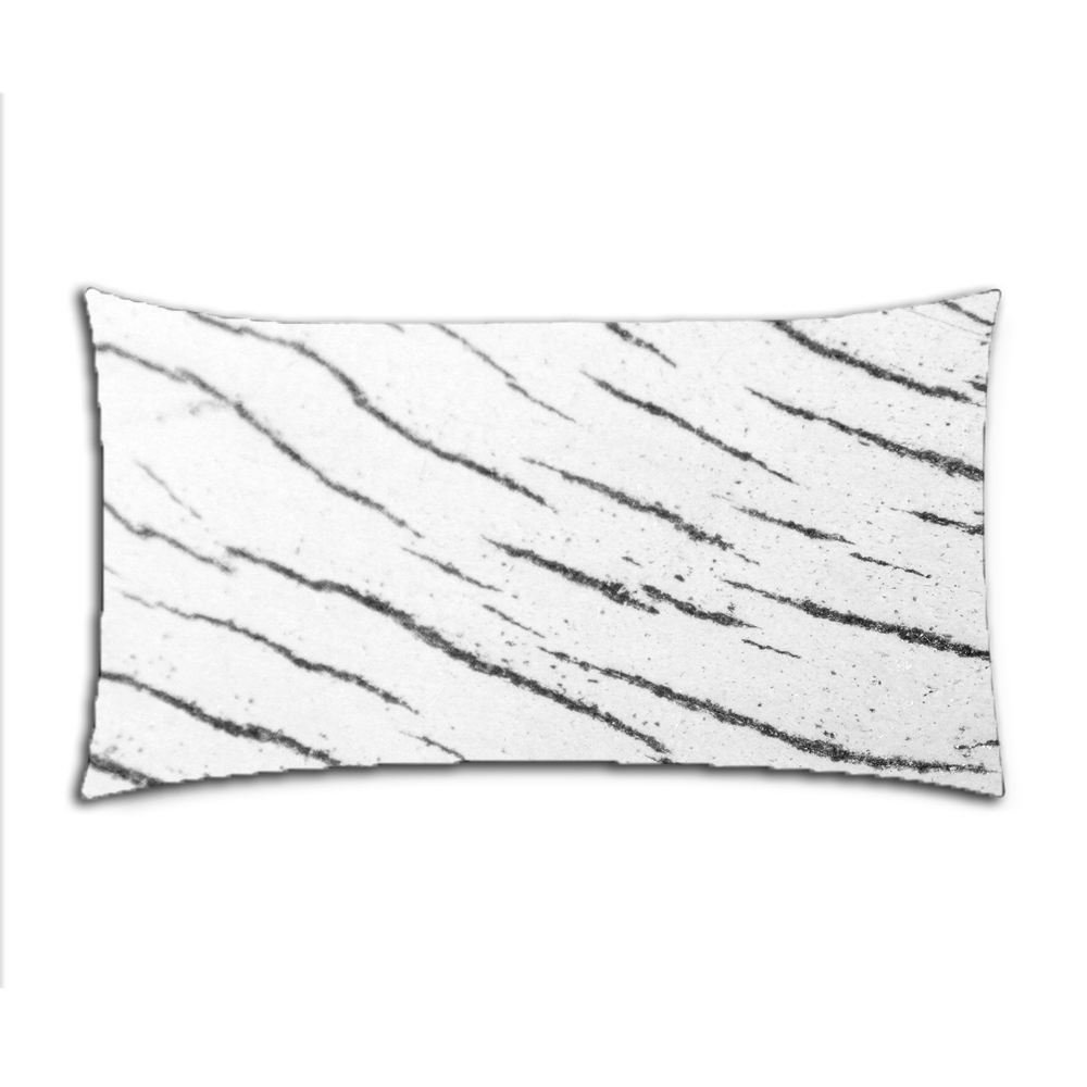 Custom Stockvault Wood Cotton Polyester Pillowcase Pillow Cover With Zipper King Size 20x36 (Twin Sides)