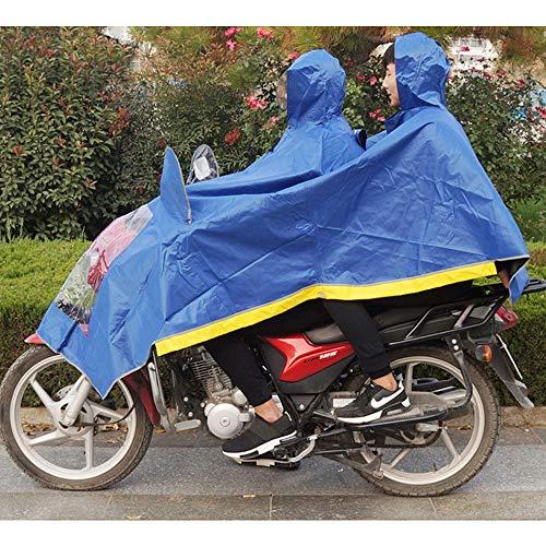 Donne Donne Donne Le Cappello Adulto Spessore Aumentare Dimensione Dimensione Dimensione Auto Blue per Impermeabile XXXXL Guyuan Uomini Color Auto di Doppia e Gli Trasparente elettrica Blue Poncho Batteria Moto Esterna 8PaqHZ