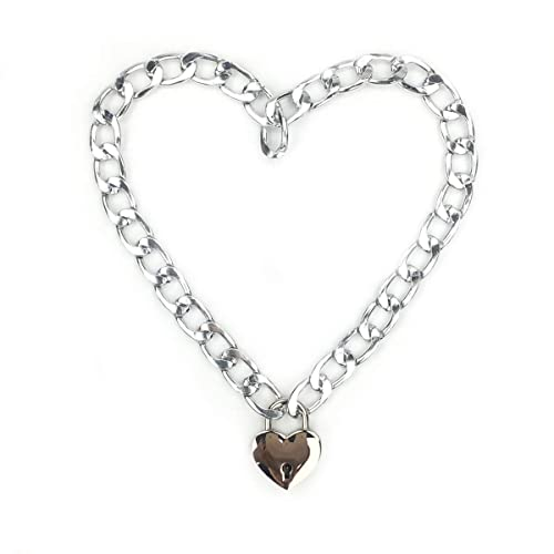 ca8085da5b931 Intimate Lover Heart Chain Necklace Collar Heart Padlock Choker for Men,  Women and Pet
