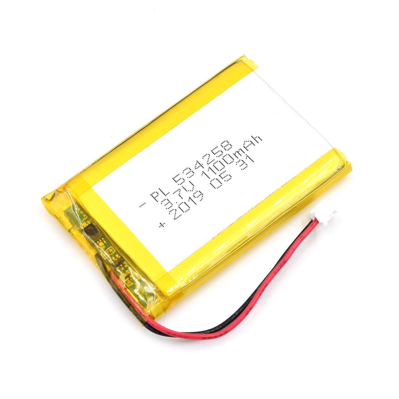 Bateria Lipo 3.7V 1100mAh 534258 Recargable JST Conector