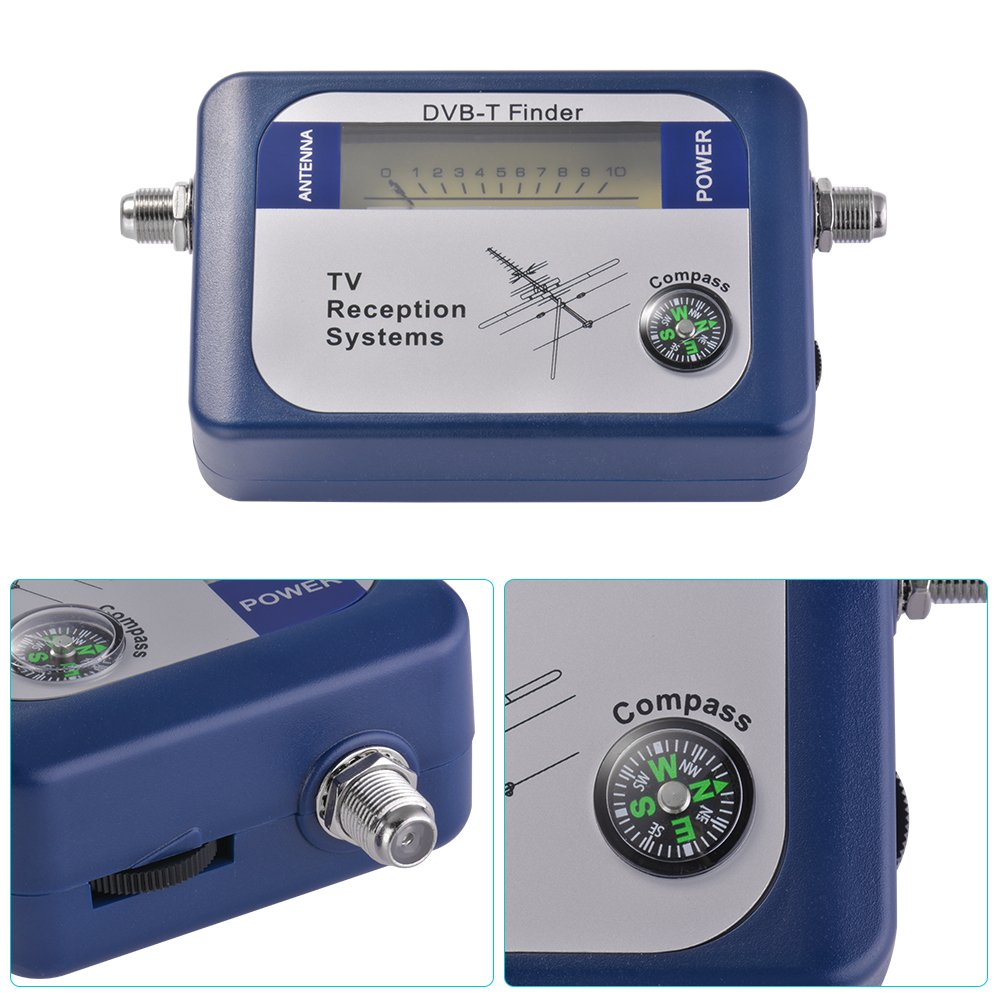 Kreema Misuratore di segnale digitale terrestre Antenna TV DVB-T Finder con sistemi di ricezione TV Compass