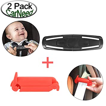 CarNeed 1 Pack Baby Chest Harness Clip Universal Seat Guard Black Lock