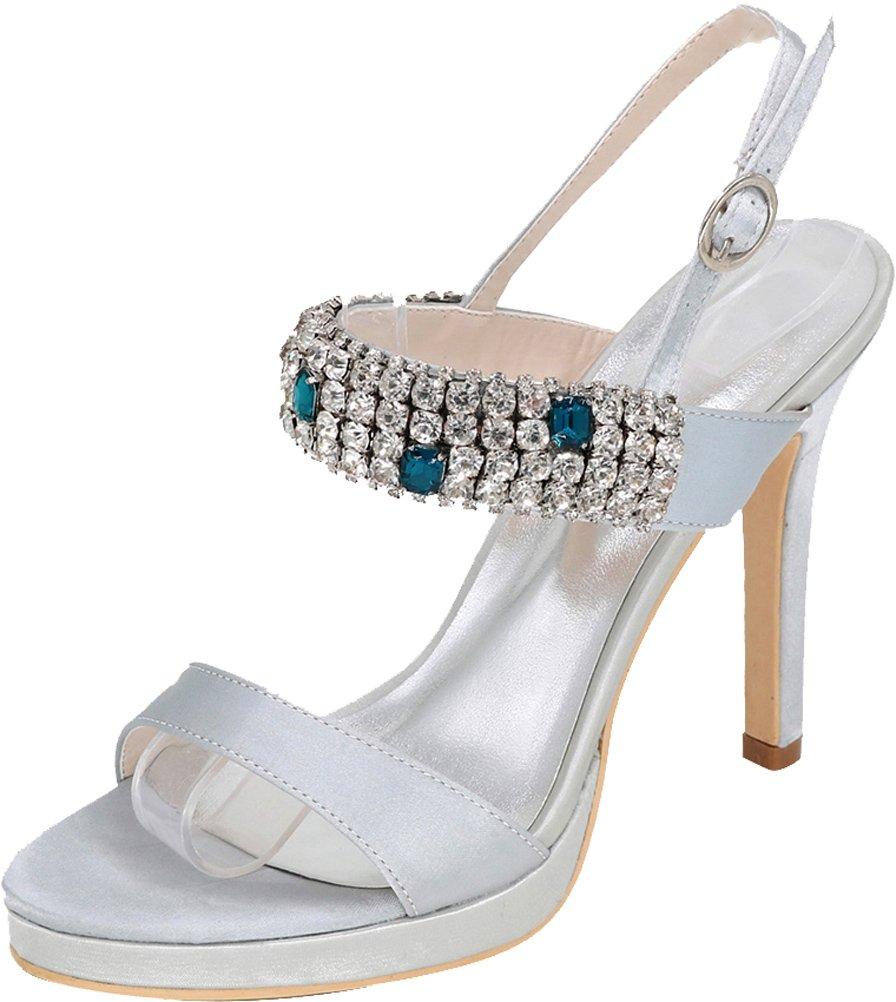 Vimedea Womens Sexy Stiletto Sandals Wedding Bride Party Dress Open Toe 5915-34 B07DHGR8FW 9.5 B(M) US Silver