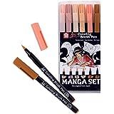 Manga-SET - manga Sakura Koi Coloring Brush stylos , 6 tons de peau de stylo de brosse