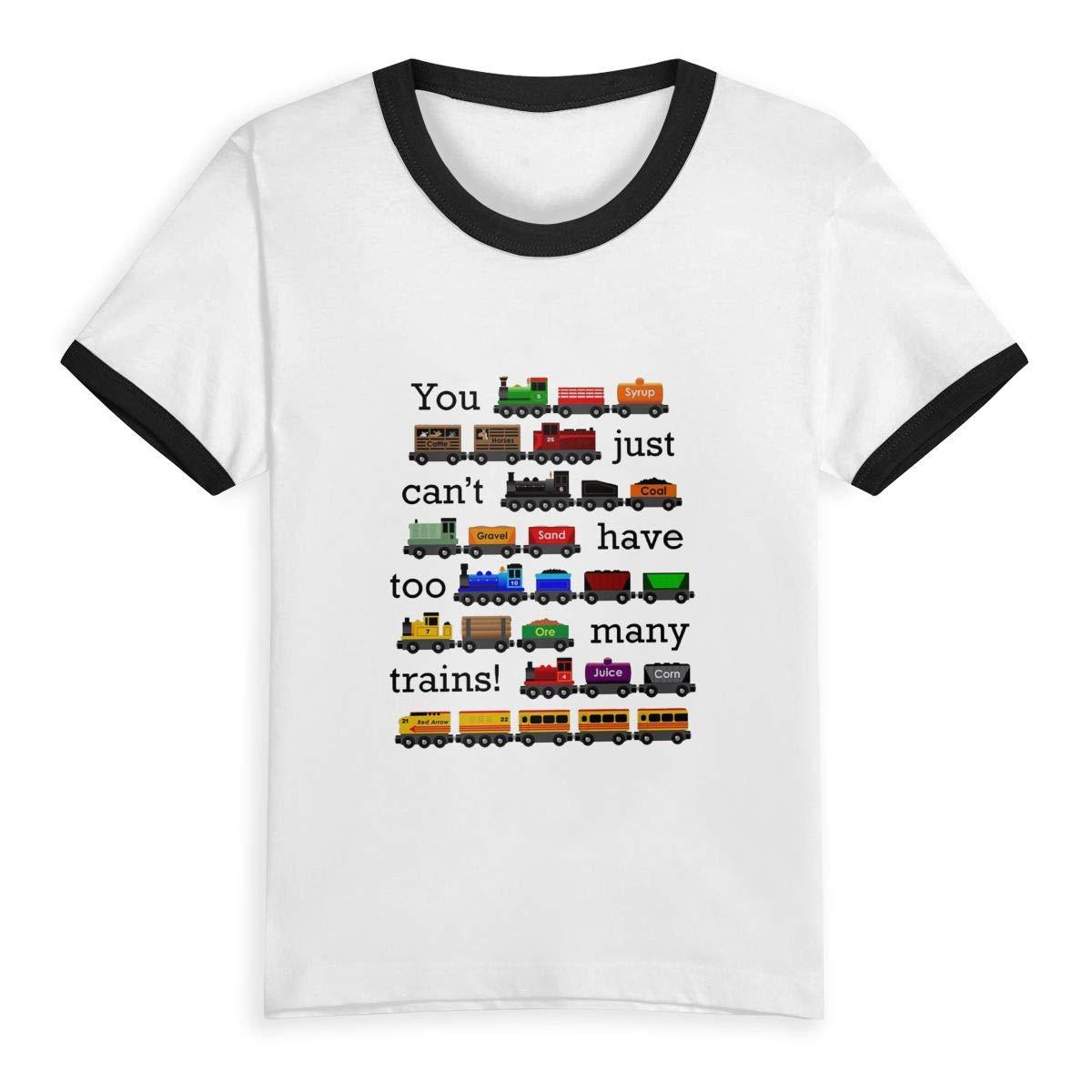 Many Trains Unisex Youths Short Sleeve T-Shirt Kids T-Shirt Tops
