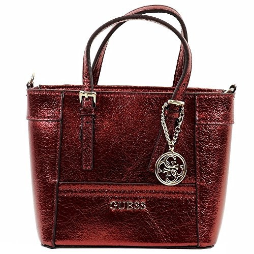 Petite Tote Handbag - GUESS Women's Delaney Petite Tote Lipstick Handbag