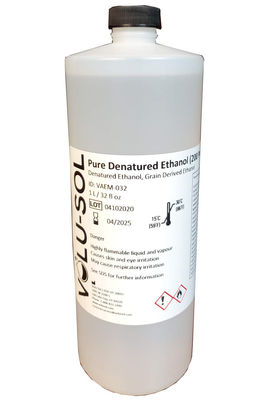 Volu Sol - Denatured Pure Ethanol SDA (200 Proof) - 1000 mL / 32 oz