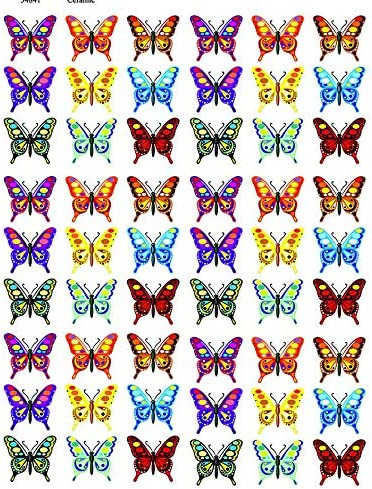 Images 3 Different Size Sheet Ceramic Decal or Glass Fusing Decals Waterslide Decal Enamel Choose Either Ceramic 34841 Colorful Butterflies to Choose from Enamel Decal Glass Decal