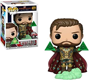 POP! Funko Marvel Spider-Man: FAR from Home Mysterio (W/Out Helmet) Vinyl Bobble-Head Exclusive #477