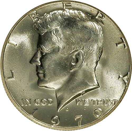 (1970 D Silver Brilliant Uncirulated Kennedy Half Dollar Uncirculated US Mint)