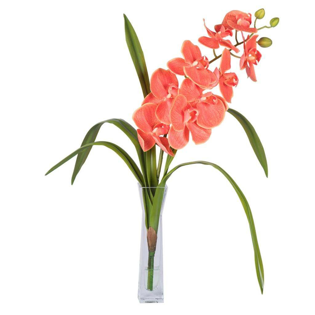 Vickerman F12242 Orange Orchid Everyday Floral