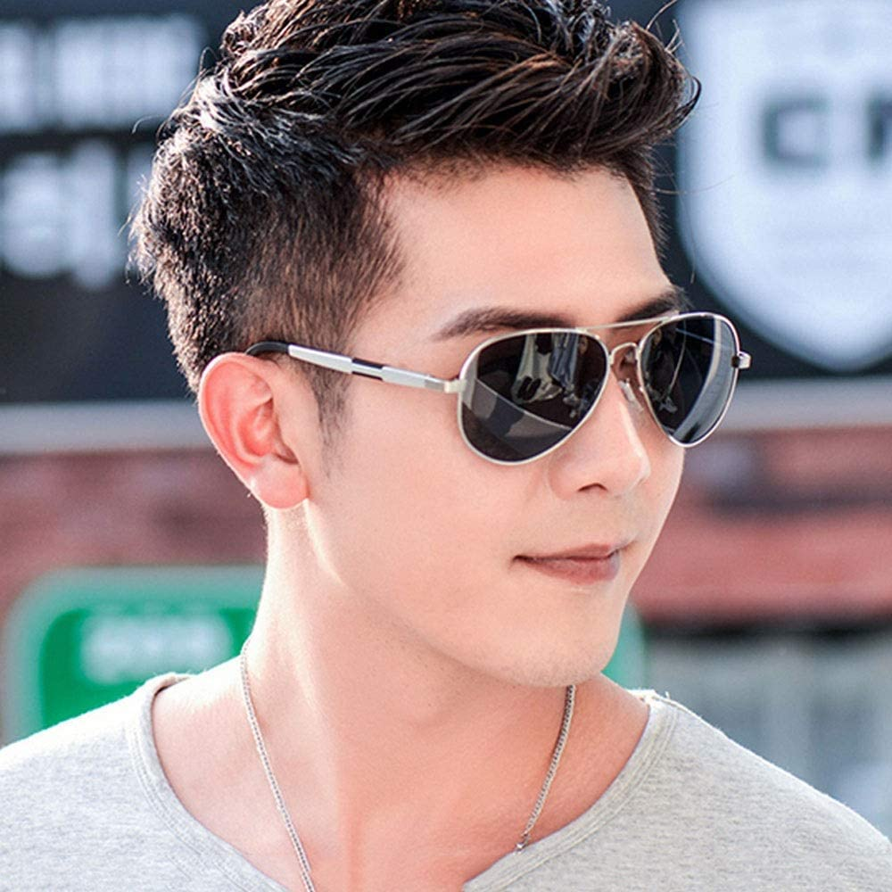Seonex Mens Oval Aviation Magnesium Aluminum Frame Pilot Sunglasses Male and Female Driving Polarizer Retro Style Movement Riding Angling Leisure Toad Mirror Lovers Travel Photo Dazzling Glasses