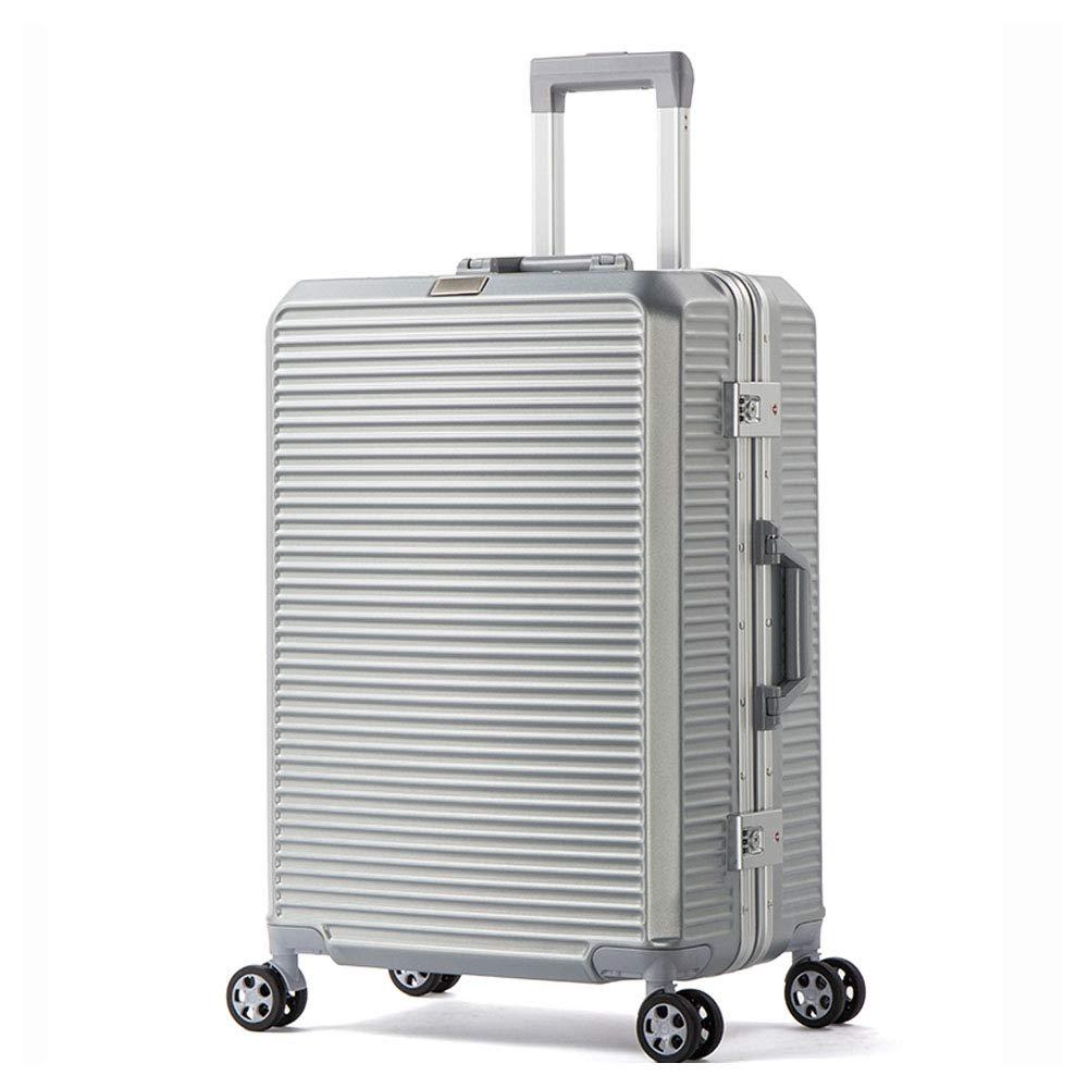 アルミ製荷物スーツケース20インチ荷物入れハードサイドローリング荷物トラベルトロリー荷物用品  Silver B07LFGQCJ1