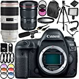 Canon EOS 5D Mark IV DSLR Camera with EF 24-70mm f/2.8L II USM Lens & EF 70-200mm f/2.8L is II USM Lens 30PC Accessory Kit - Includes 64GB Memory Card + More
