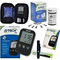 Kit Medidor Glicemia Gtech + 10 Tiras + 10 Lancetas Completo