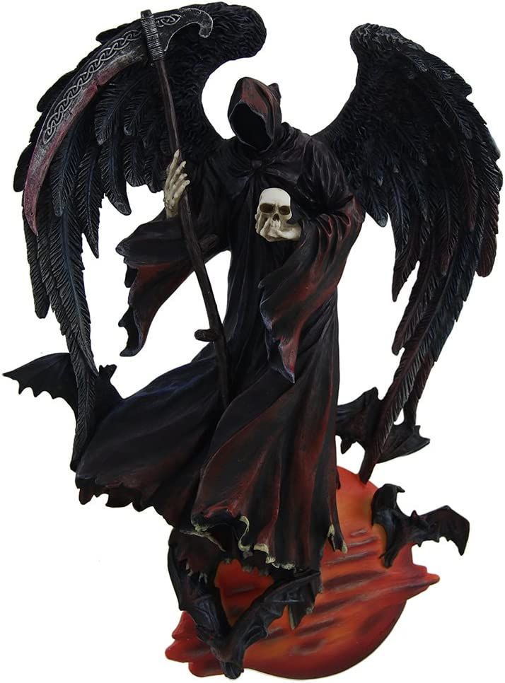 Zeckos Reaper of The Night Highly Detailed Angel of Death Wall Sculpture
