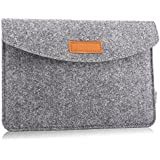 MoKo Sleeve for 7-8 Inch Amazon Tablet, Protective Felt Case Bag Cover for All-New Fire HD 8, Fire 7, Fire 7 / Fire HD 8 Kids Edition 2017, Kindle Oasis 2017, Kindle(8th Gen, 2016) - Light Gray