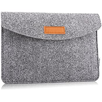 MoKo 7-8 Inch Sleeve Bag, Portable Carrying Protective Felt Tablet Case Cover, for iPad Mini 1/2 /3/4, Lenovo Tab 4 8.0, Samsung Galaxy Tab S2 8.0, ...
