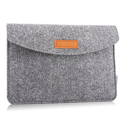 MoKo 9-10.5 Inch Tablet Sleeve Case, Felt Case Bag Fits iPad Air 10.5 2019/iPad Pro 11 2018/iPad Pro 10.5/iPad 9.7 (6th Gen)/iPad Air 2 9.7 Inch, Galaxy Tab A 10.1, Surface Go 2018 - Light Gray