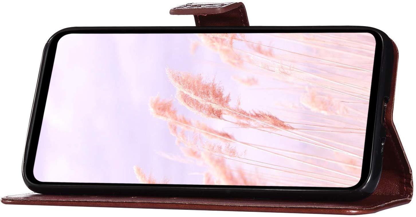Saceebe Compatible avec Samsung Galaxy J2 Pro 2018 Coque Housse en Cuir Pochette Portefeuille Vintage Etui 3D Motif Attrape R/êves Hibou Coque Housse de Protection /à Rabat Flip Cover Stand,Gris